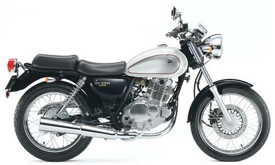 スズキ ST250 Eタイプ パールミラージュホワイト-グラススパークルブラック