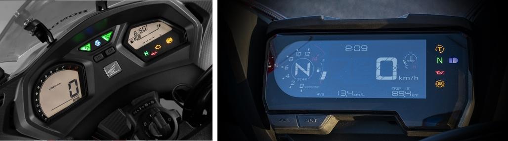 ホンダ CBR650F vs CBR650R メーター