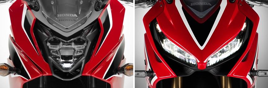 ホンダ CBR650F vs CBR650R ヘッドライト