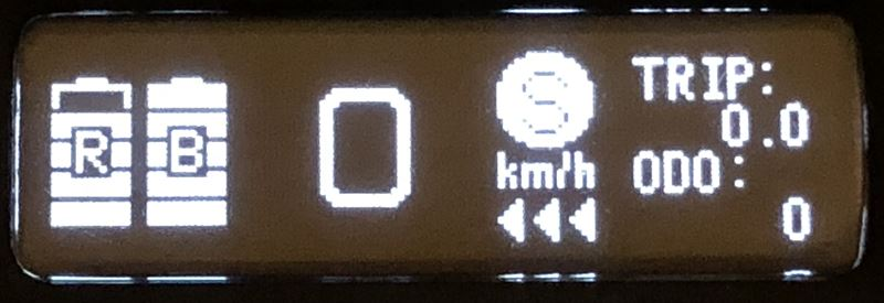 電動スケボー Backfire G2t リモコン OLEDモニター表示