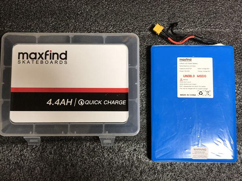 電動スケボーMaxfind MAX4 予備バッテリー