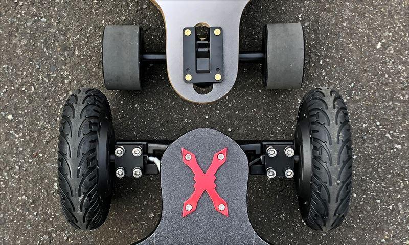 電動スケボー WINboard Spark X & Spark S トラック幅
