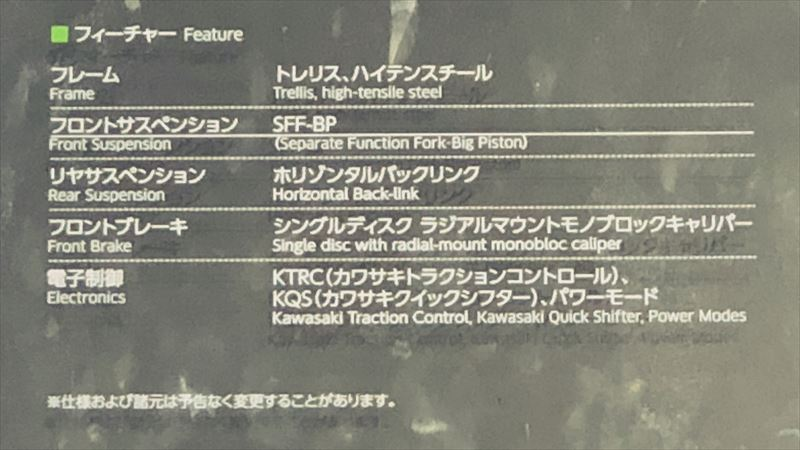 東京モーターショー2019 カワサキ ZX-25R フィーチャー