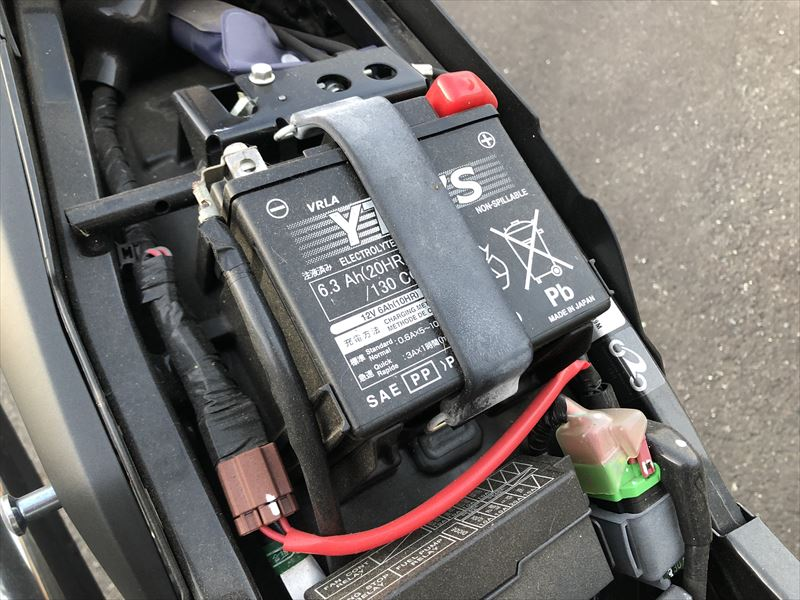 VTR250 バッテリー
