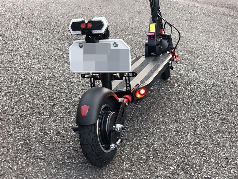 電動キックボード T9 ナンバープレート