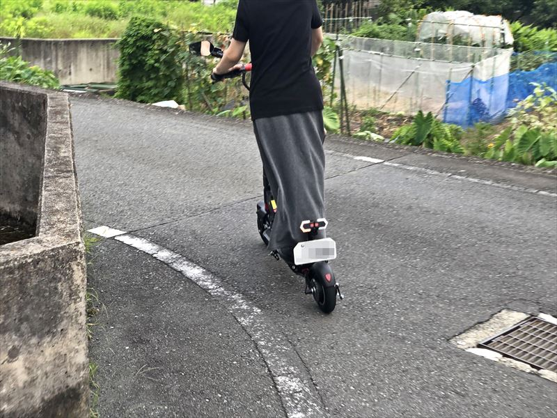 電動キックボード T9 公道走行